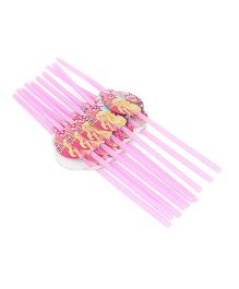 Barbie Party Straw Pack Of 10 (Color May Vary)