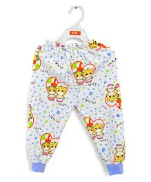 LOL Full Length Fleece Track Pants Friends Print - White Red Blue
