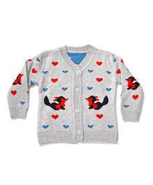 LOL Full Sleeves Sweater Squirrel Design - Grey