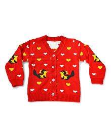 LOL Full Sleeves Sweater Squirrel Design - Red