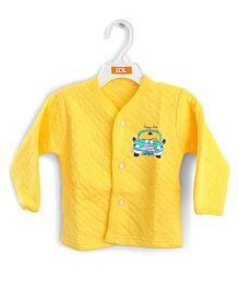LOL Full Sleeves Quilted Vest Car Design - Yellow