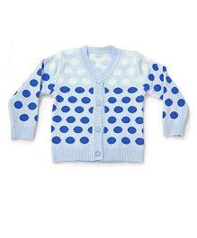 LOL Full Sleeves Polka Dot Sweater - Blue