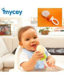 Mycey Safe Feeding Net Teether - Orange Food Feeder