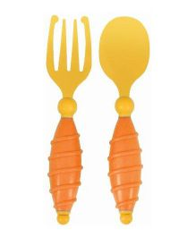 Mycey Fork And Spoon Set - Yellow