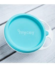Mycey Plate With Lid - Blue