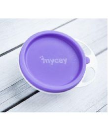Mycey Plate With Lid - Purple