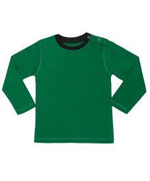 Brown Boy Mini Organic Cotton Full Sleeves Round Neck Tee - Green