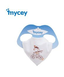 Mycey Cotton Bib Bicycle Print - White