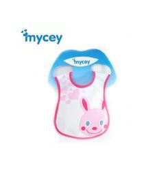Mycey Stainproof Bib Bunny Print - Pink