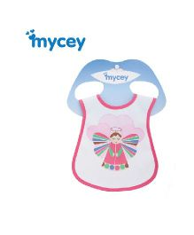 Mycey Stainproof Bib Angel Print - Pink
