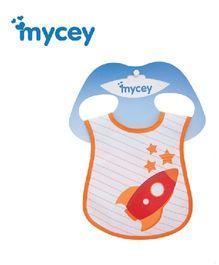 Mycey Stainproof Bib Rocket Print - Orange