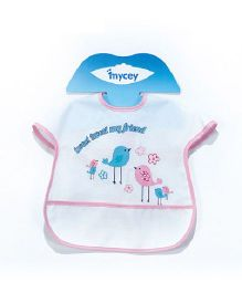 Mycey Big Stainproof Bibs with Crumb Catcher Pocket - Pink