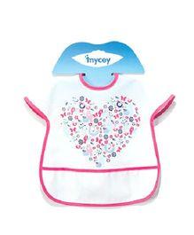 Mycey Big Stainproof Bibs with Crumb Catcher Pocket - Pink
