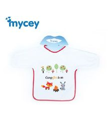 Mycey Terrycotton Sleeved Baby Bib - Red