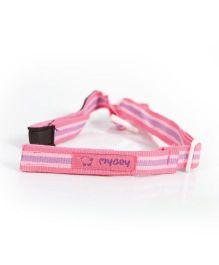 Mycey Feeding Bottle Cord Stripes - Pink