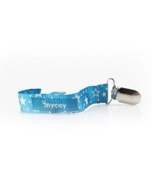 Mycey Pacifier Cord Stars - Blue