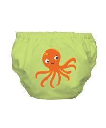 Mycey Swim Diaper Octopus Print - Green