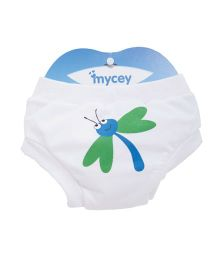 Mycey Training Pants Dragonfly Print - White