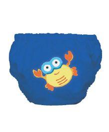 Mycey Swim Diaper Crab Print - Blue