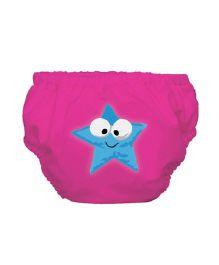 Mycey Swim Diaper Starfish Print - Fuchsia