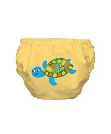 Mycey Swim Diaper Tortoise Print - Yellow