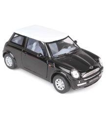 Kinsmart Die Cast Pull Back Mini Cooper Model Car Toy - Black White