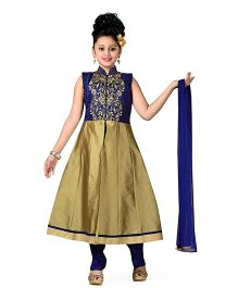 Aarika Kurta Churidar & Dupatta Set - Blue