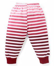 Cucumber Leggings Stripes Print - Pink White