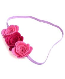 Knotty Ribbons Three Flower Headband - Pink & Red