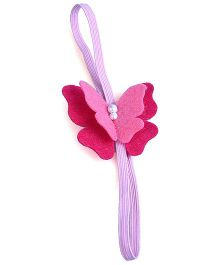 Knotty Ribbons Butterfly Headband - Pink