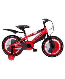 Unirox Harry Bicycle With Training Wheels Red and Black - 16 Inches