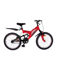 Unirox Rex Bicycle With Double Suspension and Gear Red and Black - 20 Inches
