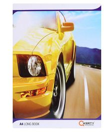 Qwerty A4 Notebook Single Line Car Print - 180 Pages