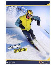 Qwerty A4 Notebook Single Line Skiing Print - 280 Pages