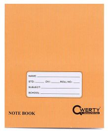 Qwerty Small Hard Cover Single Line Notebook - 80 Pages