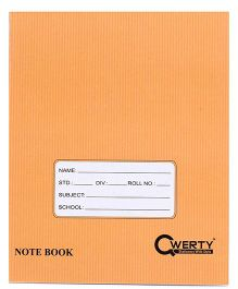 Qwerty Hard Cover Small Square Notebook - 80 Pages