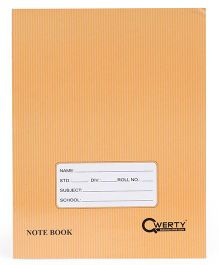 Qwerty A5 Notebook Soft Cover Double Line Brown - 80  Pages