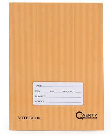 Qwerty A5 Notebook Soft Cover Four Line Brown - 80  Pages