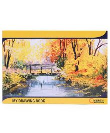 Qwerty Medium Drawing Book Yellow - 36 Pages
