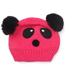 Flaunt Chic Panda Winter Cap - Pink