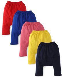 Babyhug Plain Solid Color Diaper Leggings - Pack Of 5