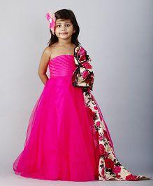 PinkCow Off Shoulder Long Dress - Hot Pink