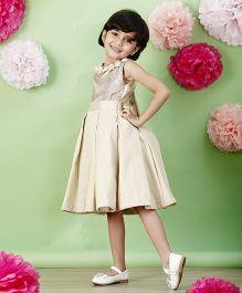 PinkCow Pleated Dress - Beige
