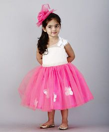 PinkCow Butterfly Party Dress - White & Pink