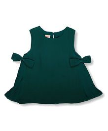 Hugsntugs Top With Bow On Both Sides - Green