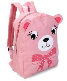 Fox Baby School Bag Bear Face Print - Mid Grey