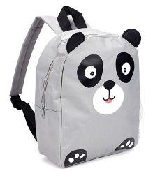 Fox Baby School Bag Panda Face Print - Mid Grey