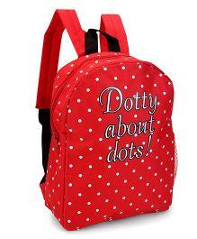 Fox Baby School Bag Panda Dotty About Dots Print - Red