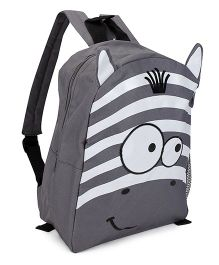 Fox Baby School Bag Zebra Face Print - Grey