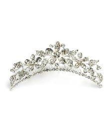 A.T.U.N Diamond Studded Tiara - Silver
